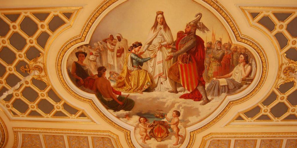 Фреска в музее керамики. Валенсия