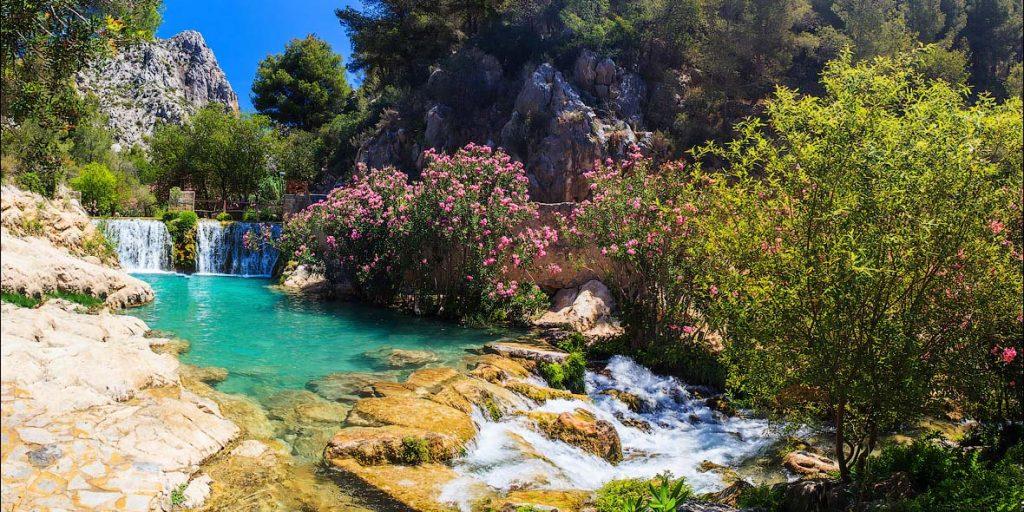 Водопады Альгар (Fuentes del Algar). Испания